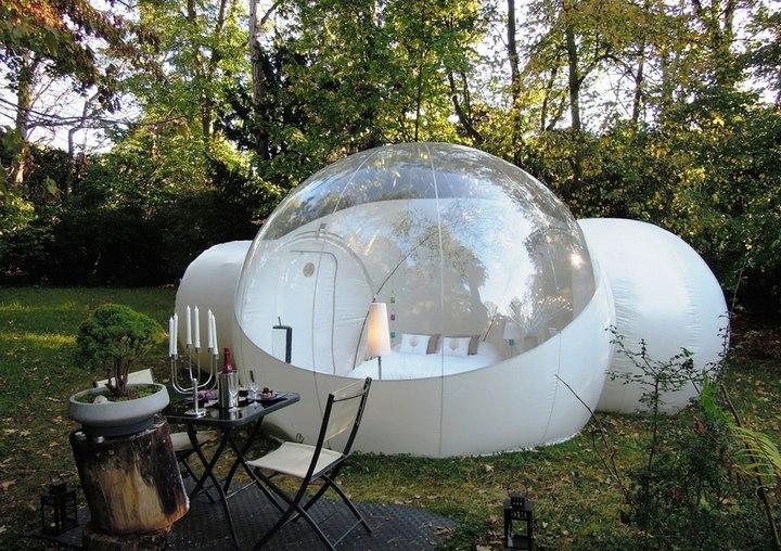 Прозрачный, надувной дом Bubble Tree (3)