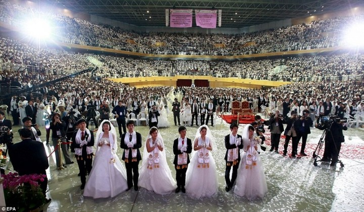 Самая массовая церемония бракосочетания в Южной Корее (4)