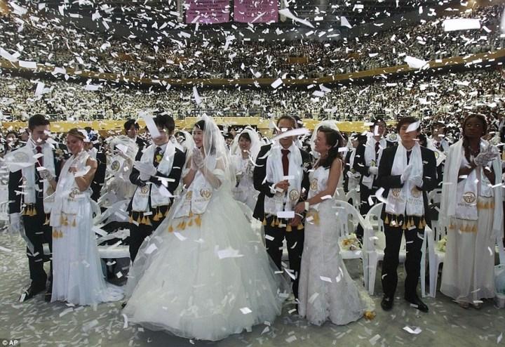 Самая массовая церемония бракосочетания в Южной Корее (6)