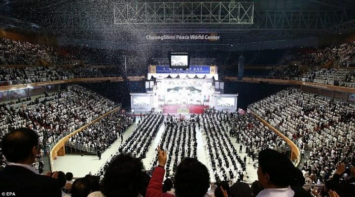 Самая массовая церемония бракосочетания в Южной Корее (15)