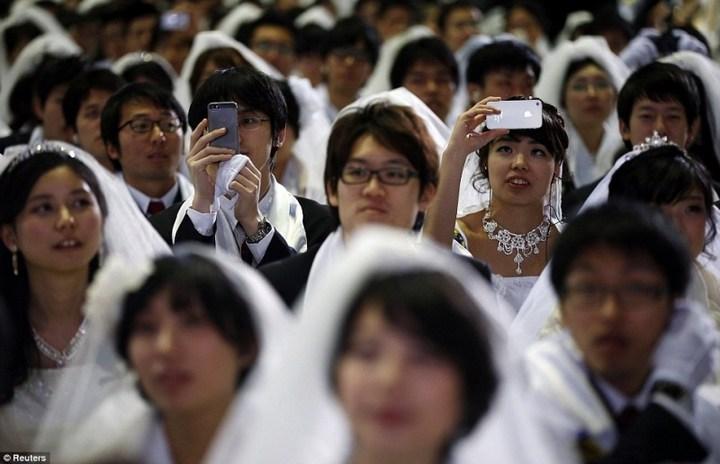 Самая массовая церемония бракосочетания в Южной Корее (17)