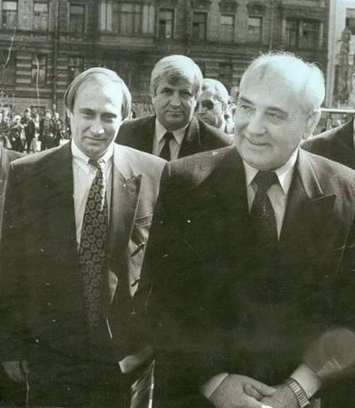 Фото Путина в начале карьеры, Путин и Собчак (8)
