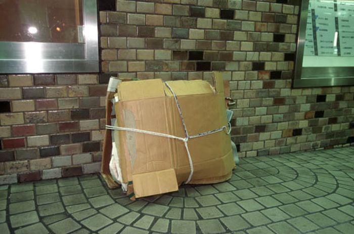 Коробочные люди на станции Синдзюку (8)