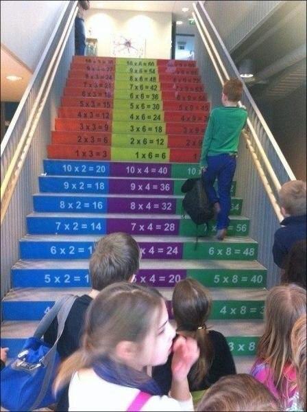 Правильная лестница в школе. Отличная идея