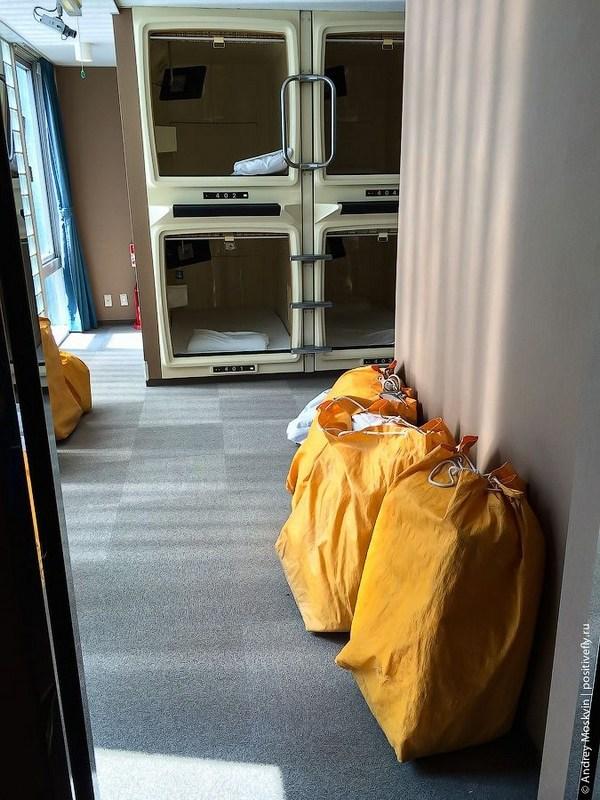Японская капсульная гостиница или жизнь в коробке (18)