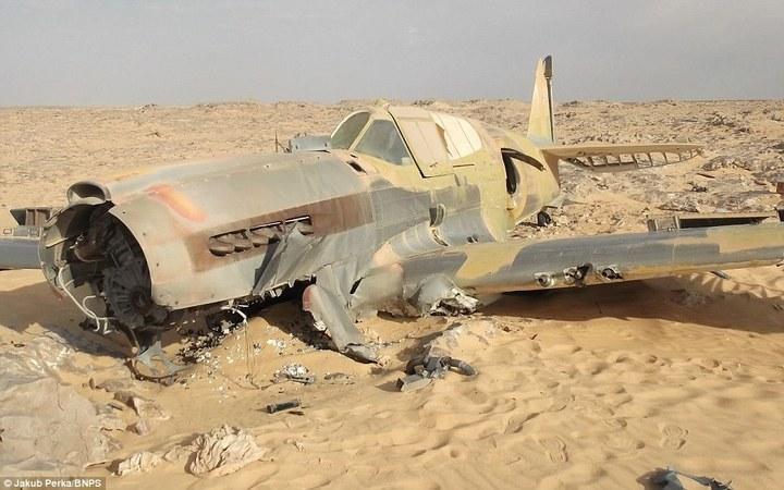 Cамолет времен Второй мировой Curtiss P-40D(E) Kittyhawk пролежал в Сахаре 70 лет (1)