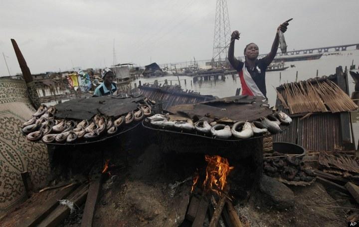 Плавучие трущобы Макоко, Нигерия (3)