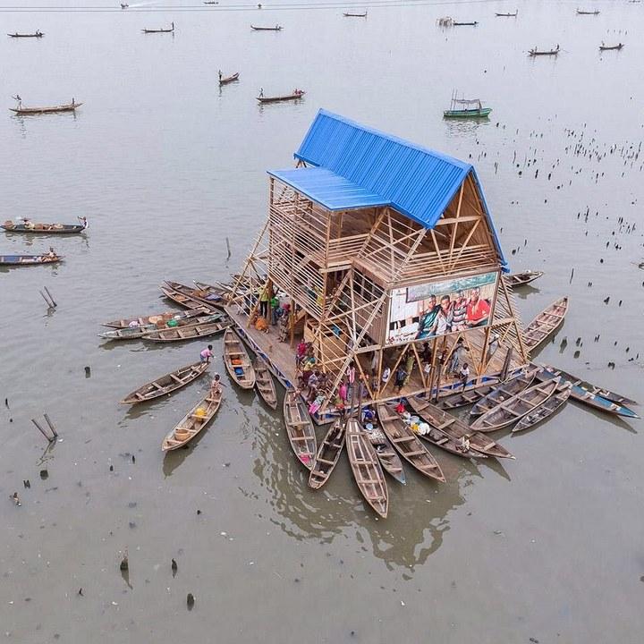Плавучие трущобы Макоко, Нигерия (6)