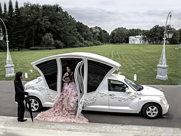 Автомобиль-карета для свадебных торжеств (3)
