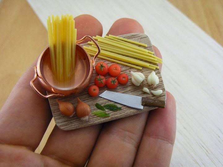 Миниатюрные копии еды Шайя Аарона (14)