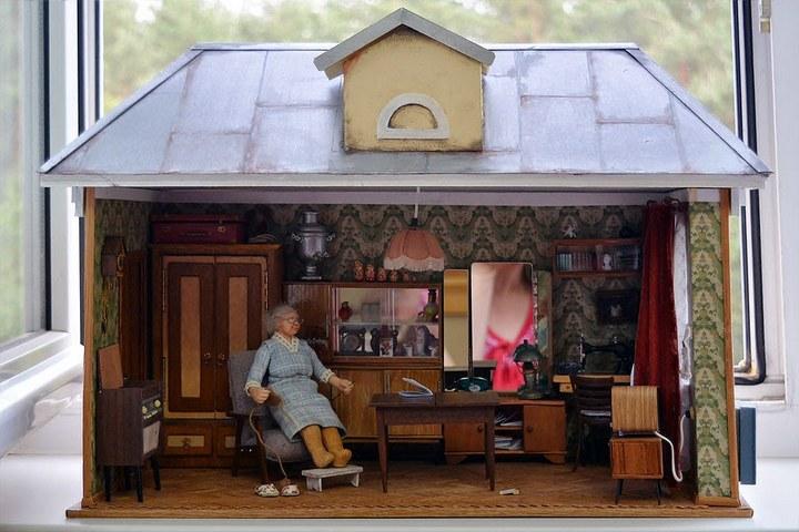миниатюрная копия комнаты с мебелью (34)
