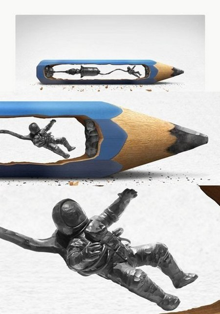 Скульптуры из стержня карандаша