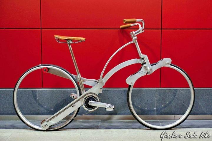 Необычный складной велосипед (1)