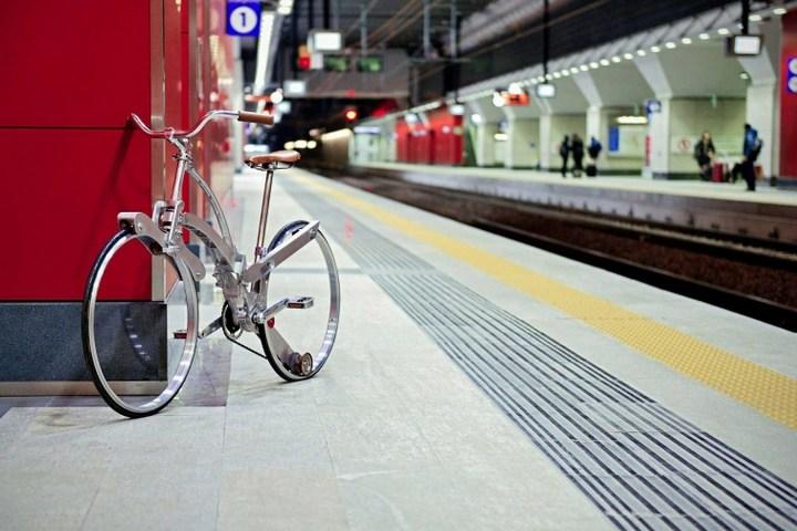 Необычный складной велосипед (2)
