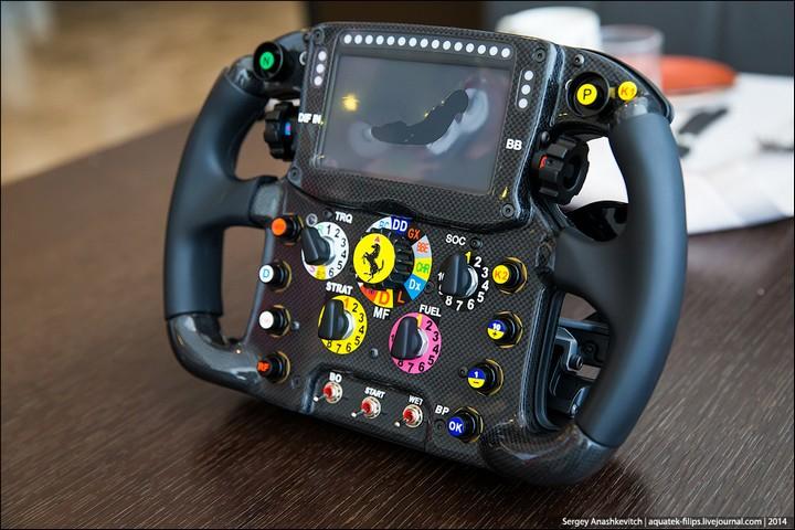 Как устроен руль Формулы-1 (1)