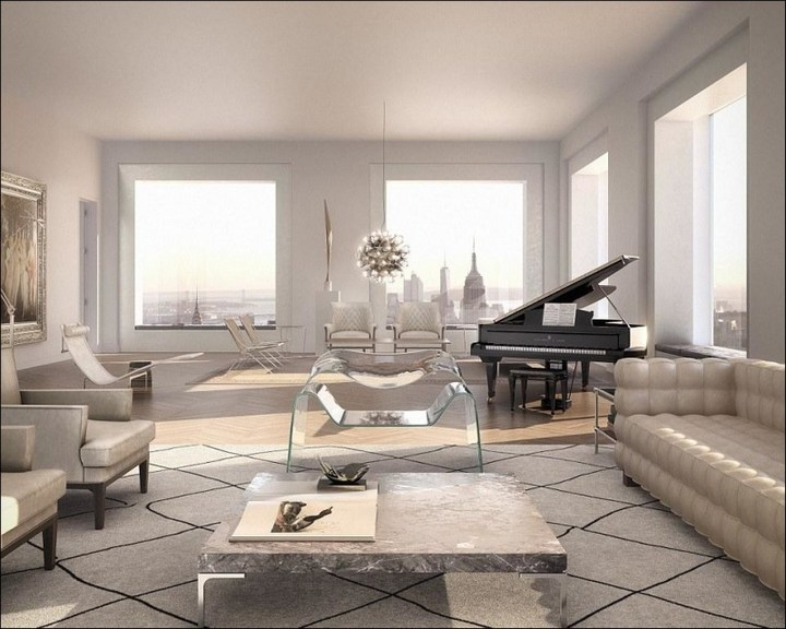 Квартира в небоскребе за $95 млн., с шикарным видом на Манхэттен (7)