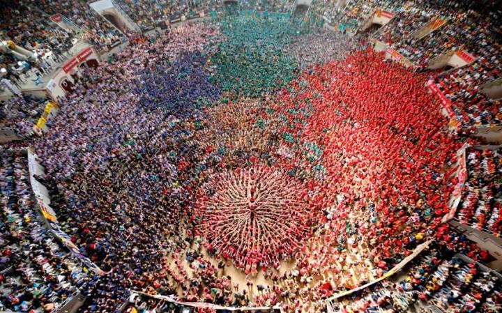 Замки из людей. Соревнование в Таррагоне 2014 (2)