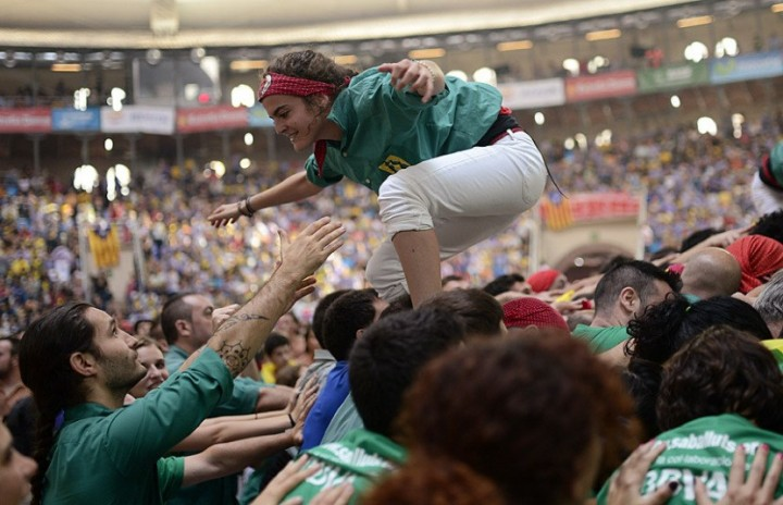 Замки из людей. Соревнование в Таррагоне 2014 (14)