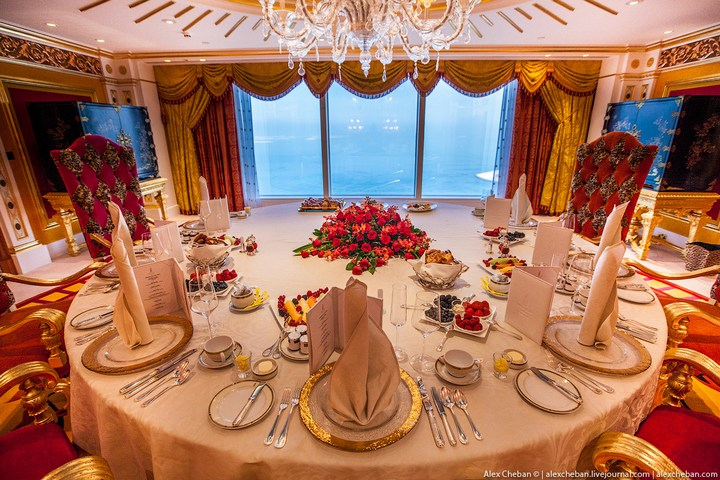 Самый дорогой гостиничный номер в семизвездочном отеле Burj Al Arab (11)