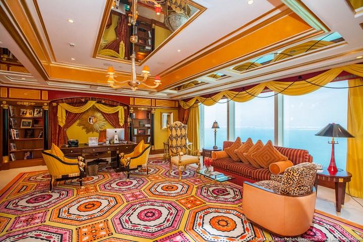 Самый дорогой гостиничный номер в семизвездочном отеле Burj Al Arab (6)
