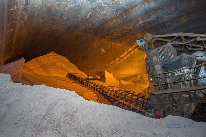 Как добывают калий (калийный минерал, сильвенит) (1)