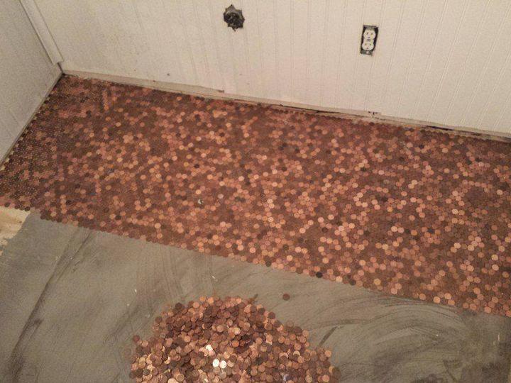 Делаем пол из монет (2)