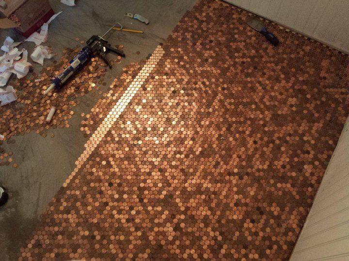 Делаем пол из монет (3)