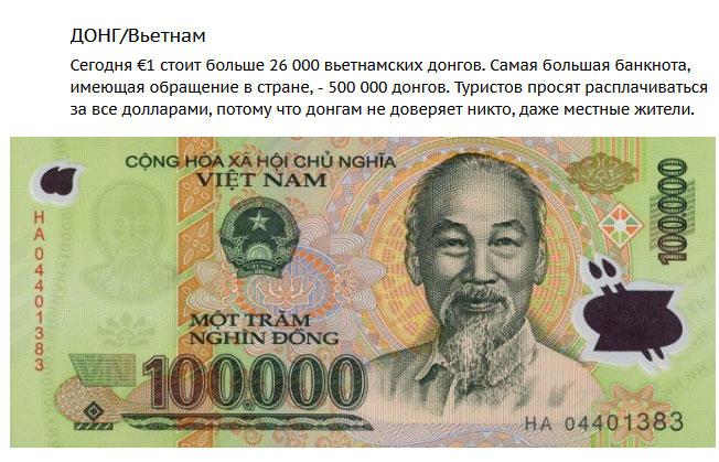 """Самые """"слабые"""" валюты мира (3)"""