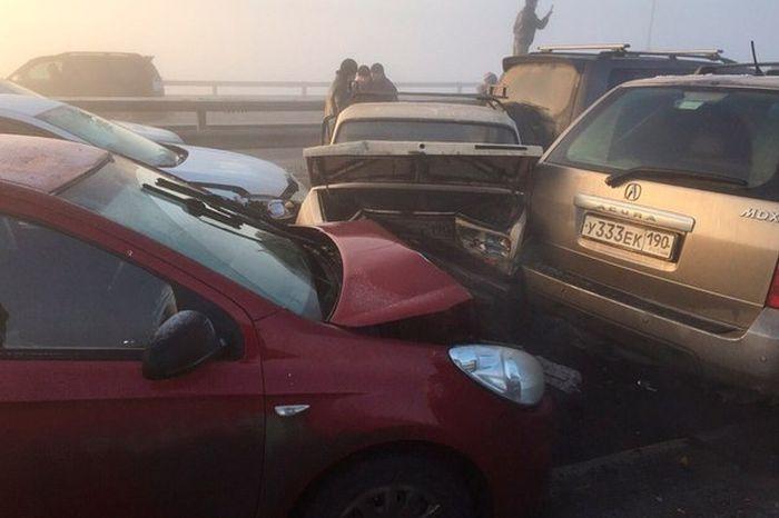 На трассе М-5 столкнулись 78 автомобилей (1)