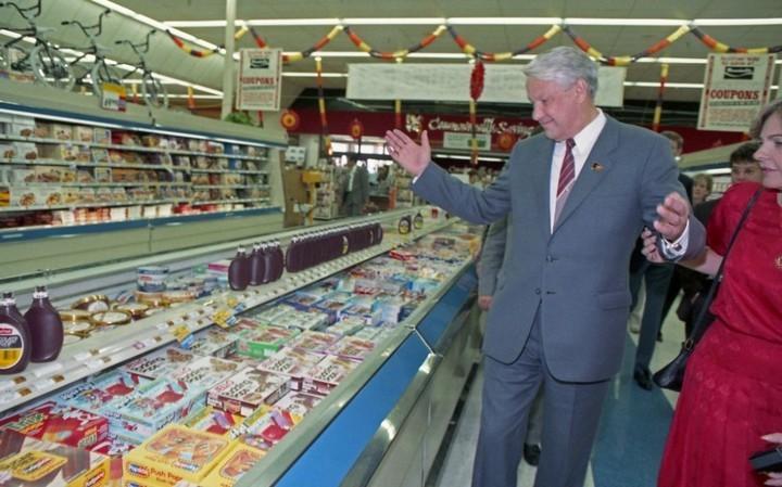 Как Ельцин впервые в жизни в американском супермаркете побывал (1)