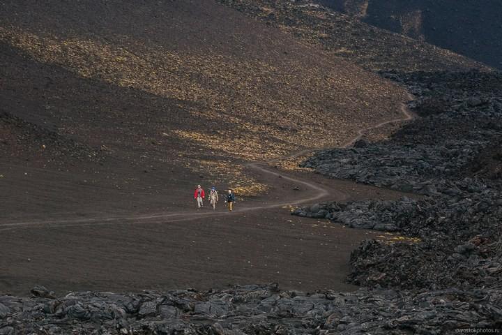 Лавовый поток вулкана Толбачик, гора Камень и Ключевская сопка (7)