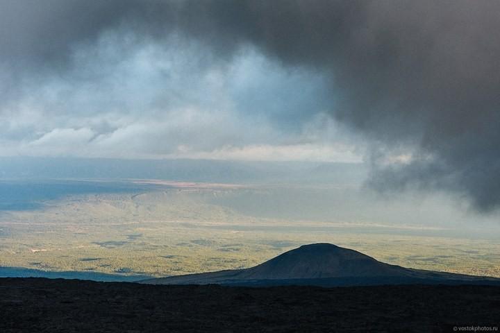 Лавовый поток вулкана Толбачик, гора Камень и Ключевская сопка (12)