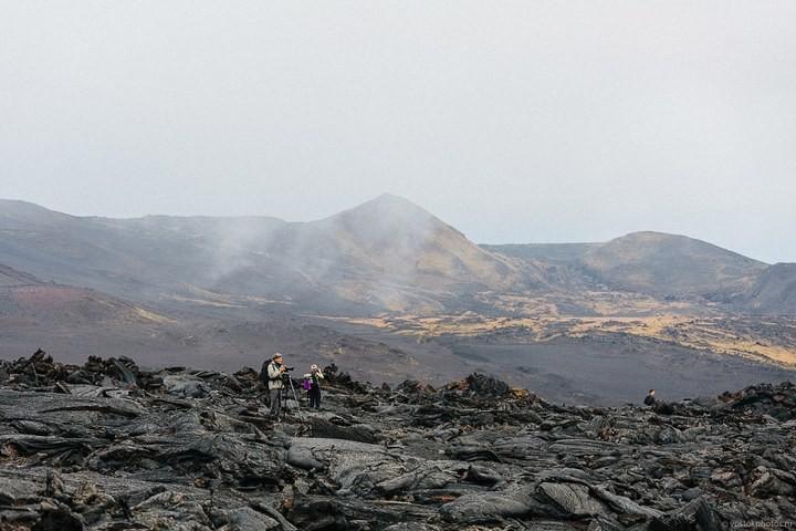 Лавовый поток вулкана Толбачик, гора Камень и Ключевская сопка (13)