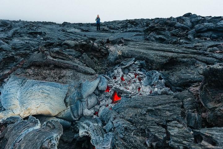 Лавовый поток вулкана Толбачик, гора Камень и Ключевская сопка (16)