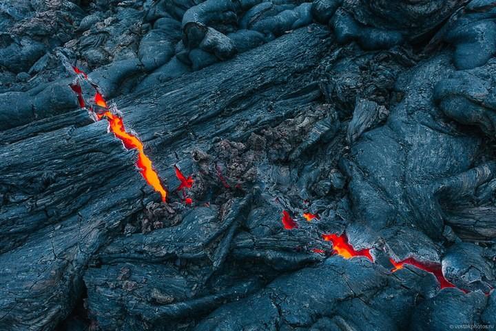 Лавовый поток вулкана Толбачик, гора Камень и Ключевская сопка (19)