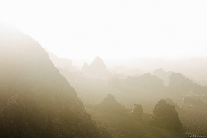 Лавовый поток вулкана Толбачик, гора Камень и Ключевская сопка (21)
