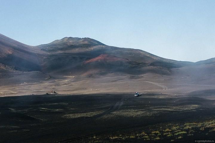 Лавовый поток вулкана Толбачик, гора Камень и Ключевская сопка (28)
