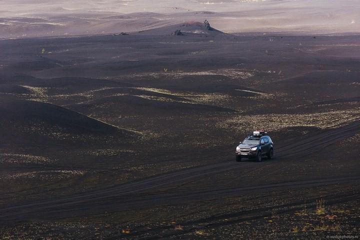 Лавовый поток вулкана Толбачик, гора Камень и Ключевская сопка (29)