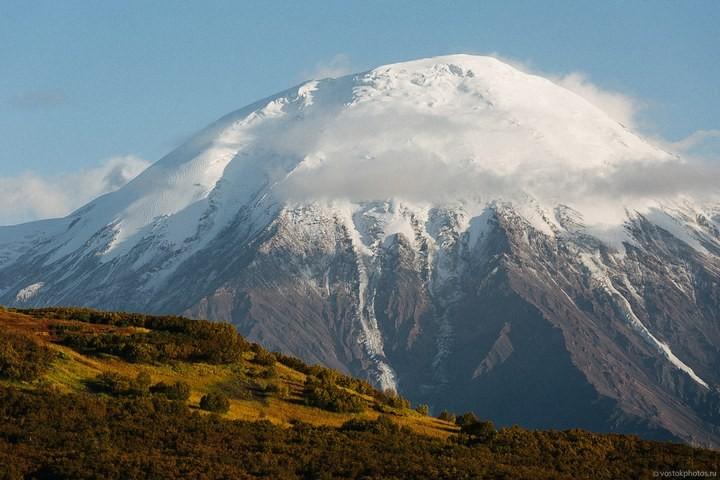 Лавовый поток вулкана Толбачик, гора Камень и Ключевская сопка (30)