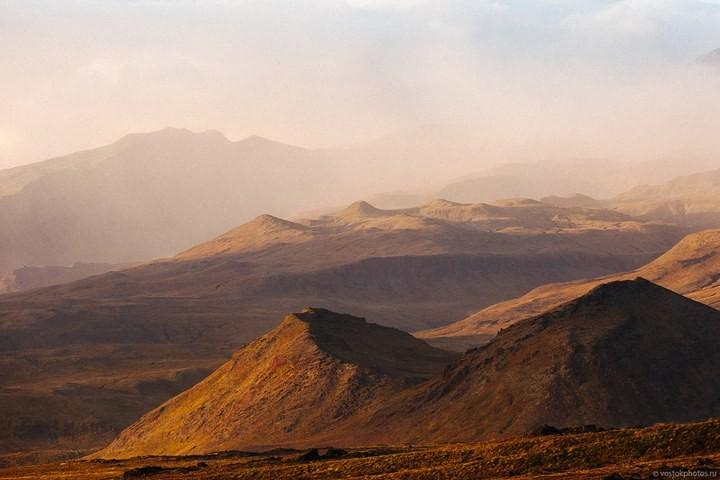 Лавовый поток вулкана Толбачик, гора Камень и Ключевская сопка (34)