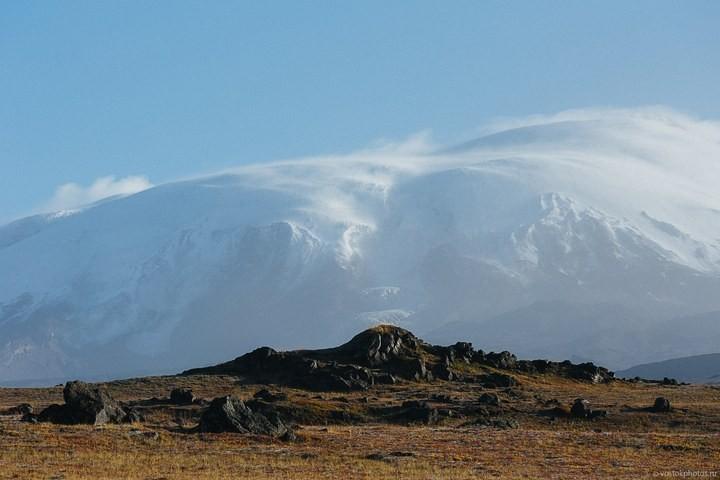 Лавовый поток вулкана Толбачик, гора Камень и Ключевская сопка (44)
