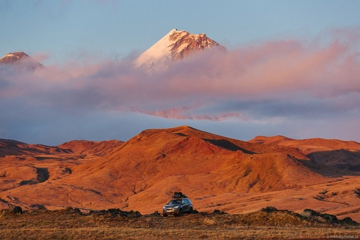 Лавовый поток вулкана Толбачик, гора Камень и Ключевская сопка (46)