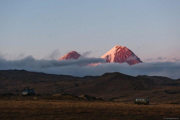 Лавовый поток вулкана Толбачик, гора Камень и Ключевская сопка (49)