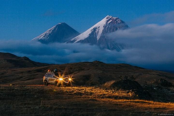 Лавовый поток вулкана Толбачик, гора Камень и Ключевская сопка (50)
