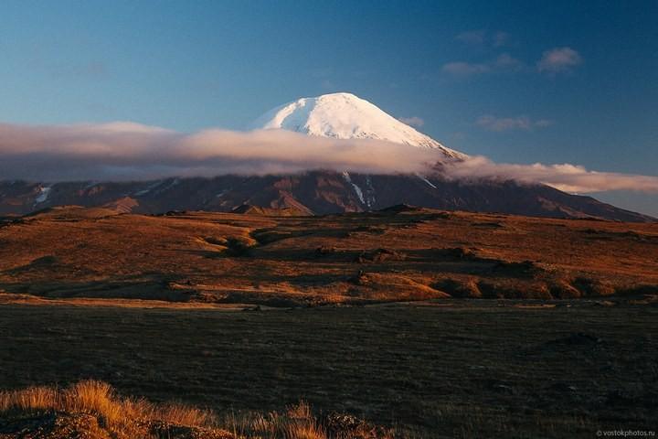Лавовый поток вулкана Толбачик, гора Камень и Ключевская сопка (51)
