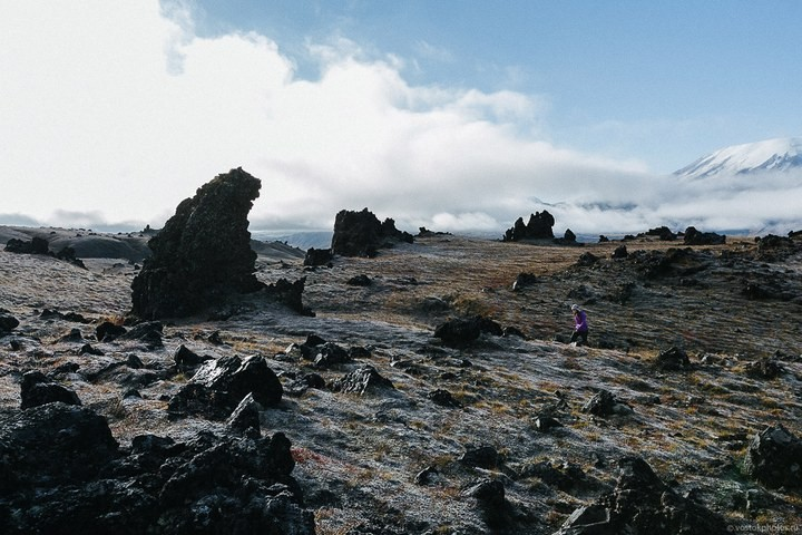 Лавовый поток вулкана Толбачик, гора Камень и Ключевская сопка (59)