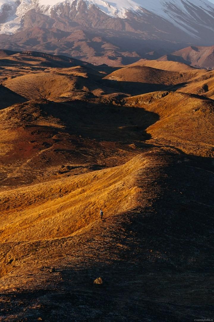 Лавовый поток вулкана Толбачик, гора Камень и Ключевская сопка (68)