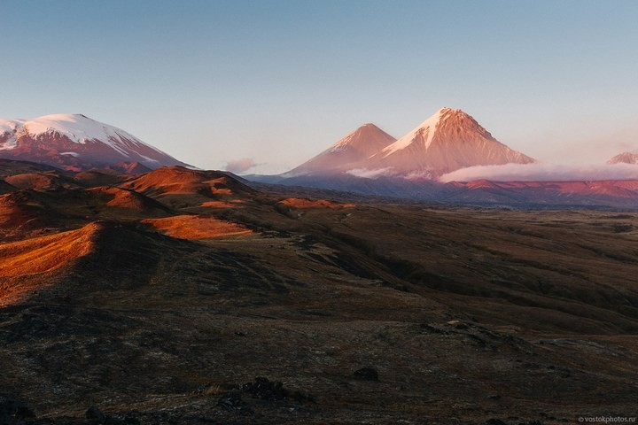 Лавовый поток вулкана Толбачик, гора Камень и Ключевская сопка (70)