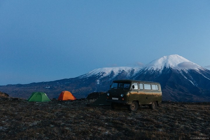 Лавовый поток вулкана Толбачик, гора Камень и Ключевская сопка (71)
