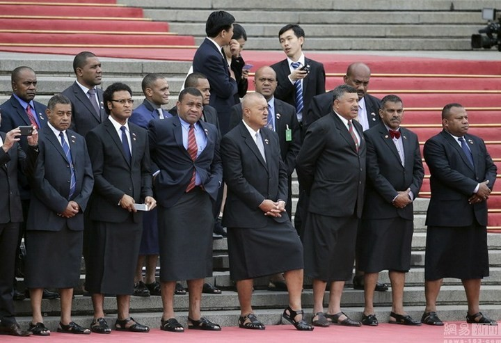 Делегация из Фиджи в Китае (1)